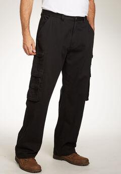 Boulder Creek® Side-Elastic Cargo Pants, BLACK