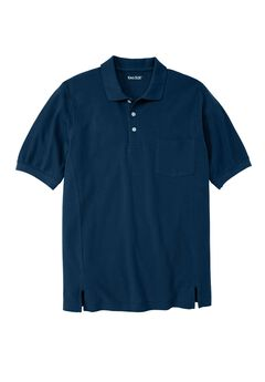 Short Sleeve Modern Fit Piqué Polo, NAVY