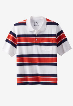 Liberty Blues® Pocket Piqué Polo Shirt, BRICK RED RUGBY