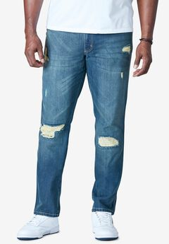 Liberty Blues™ Athletic Fit Side Elastic 5-Pocket Jeans,