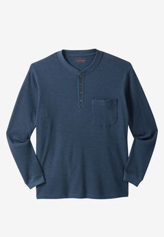 Thermal Pocket Longer-Length Henley by Boulder Creek®,