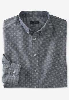KS Signature Wrinkle-Resistant Oxford Dress Shirt, CLASSIC BLUE PINDOT