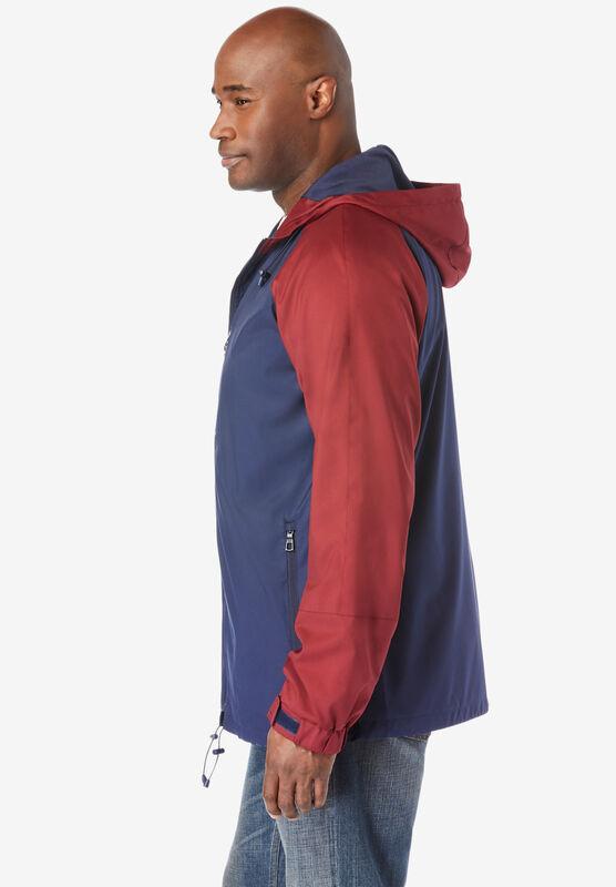 Big 8XL Boulder Creek by Kingsize Mens Big /& Tall Removable Hood Shirt Jacket Black Denim