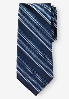 Classic Stripe Tie, MIDNIGHT NAVY STRIPE