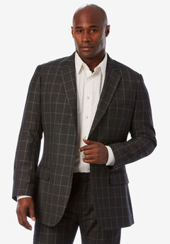 KS Signature Easy Movement® Two-Button Jacket, STEEL WINDOW PANE
