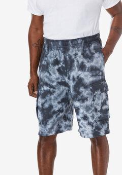 """Fleece 10"""" Cargo Shorts ,"""
