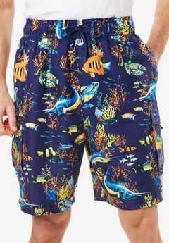 KS Island™ Printed Cargo Swim Shorts, TROPICAL FISH