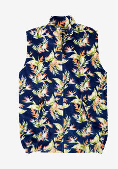 Fleece Zip Vest, ISLAND FLORAL