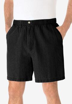 Knockarounds® 6' Pull-On Plain Shorts, BLACK