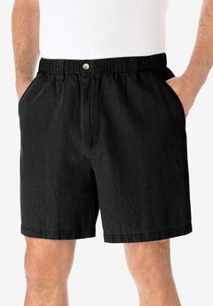 "Knockarounds® 6"" Pull-On Plain Shorts, BLACK"