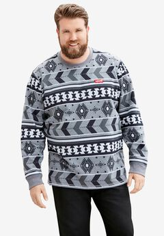 LEVI'S® PRINTED FLEECE CREWNECK SWEATSHIRT,