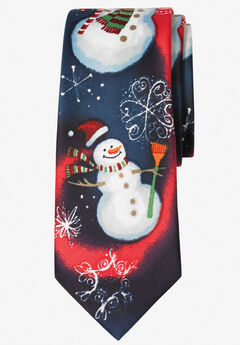 KS Signature Extra Long Novelty Holiday Tie, SNOWMAN