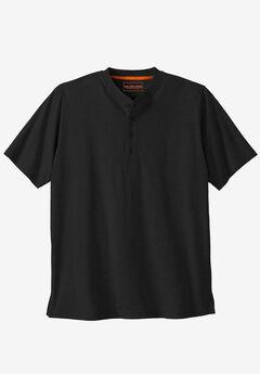 Boulder Creek® Heavyweight Short-Sleeve Henley Shirt,