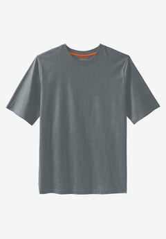 Boulder Creek® Heavyweight Jersey Crewneck T-Shirt, STEEL