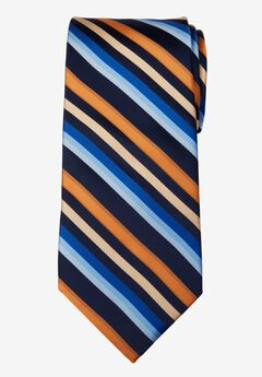Classic Stripe Tie, ORANGE MULTI STRIPE