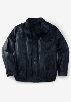 Leather Bomber Jacket,
