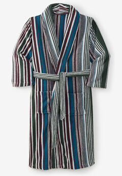 Terry Bathrobe with Pockets, HUNTER MULTI STRIPE
