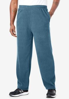 Open-Bottom Fleece Sweatpants,