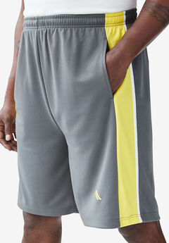 Power Wicking Shorts by KS Sport™, STEEL NEON YELLOW