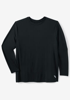 KS Sport™ X-Absorb Wicking Long-Sleeve Tee, BLACK