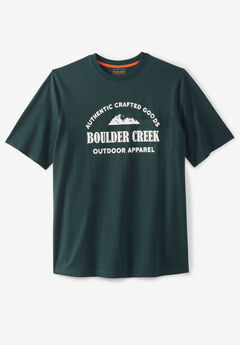 Boulder Creek® Heavyweight Crewneck Pocket T-Shirt, MOUNTAIN