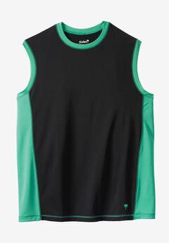 Muscle Swim Shirt by KS Island™, BLACK SEA GREEN