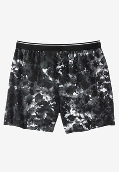 Patterned Boxers, BLACK MARBLE