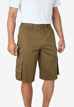 """Boulder Creek® 12"""" Side-Elastic Stacked Cargo Pocket Shorts,"""