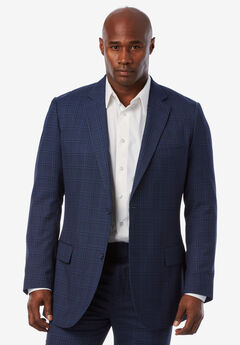 KS Signature Easy Movement® Two-Button Jacket, DARK NAVY WINDOW PANE