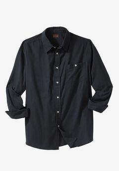 Solid Flannel Shirt by Boulder Creek®, BLACK