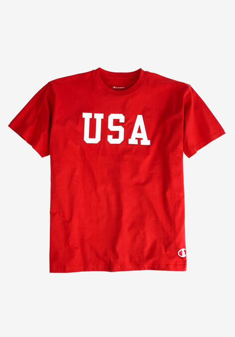 638cb7588 USA Graphic Tee by Champion®| Big and Tall Shirts | King Size