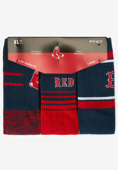MLB 3-Pack Socks, BOSTON RED SOX