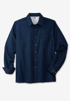 Untucked Poplin Button-Down Shirt,