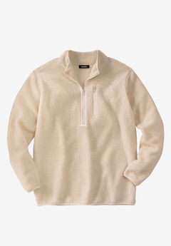 Zip-Front Sherpa Jacket,