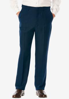 Easy-Care Signature Fit Expandable Waist Plain Front Dress Pants,