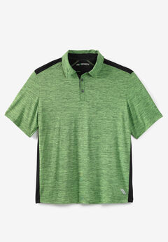 Tech Polo by KS Sport™, ELECTRIC GREEN MARL