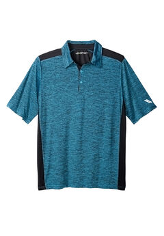 Tech Polo by KS Sport™, ELECTRIC TURQUOISE MARL