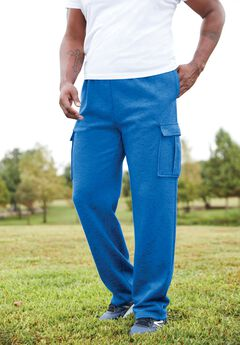 Fleece Cargo Sweatpants, ROYAL BLUE MARL