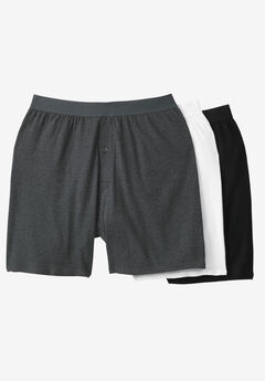 Cotton Boxers 3-Pack, ASSORTED BASIC