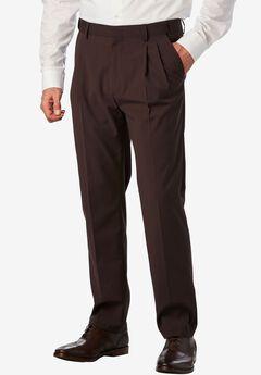 No Hassle® Modern Fit Expandable Waist Double-Pleat Dress Pants,