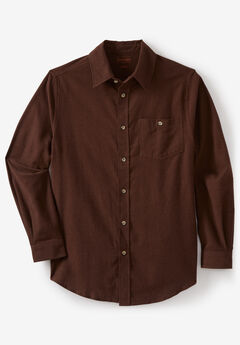 Solid Flannel Shirt by Boulder Creek®, HEATHER BROWN