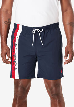 Nautica® Quick Dry Anchor Print Swim Shorts , NAUTICA NAVY PRINT