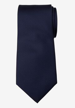 KS Signature Extra Long Classic Textured Tie, DARK NAVY