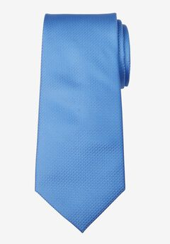 KS Signature Extra Long Classic Textured Tie, SKY BLUE