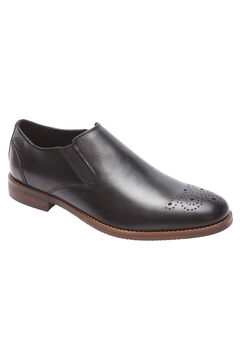 Purpose Leather Slip-Ons by Rockport®, BLACK