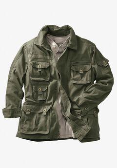 Boulder Creek® Multi-Pocket Twill Jacket, OLIVE