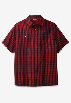 Short-Sleeve Printed Sport Shirt,