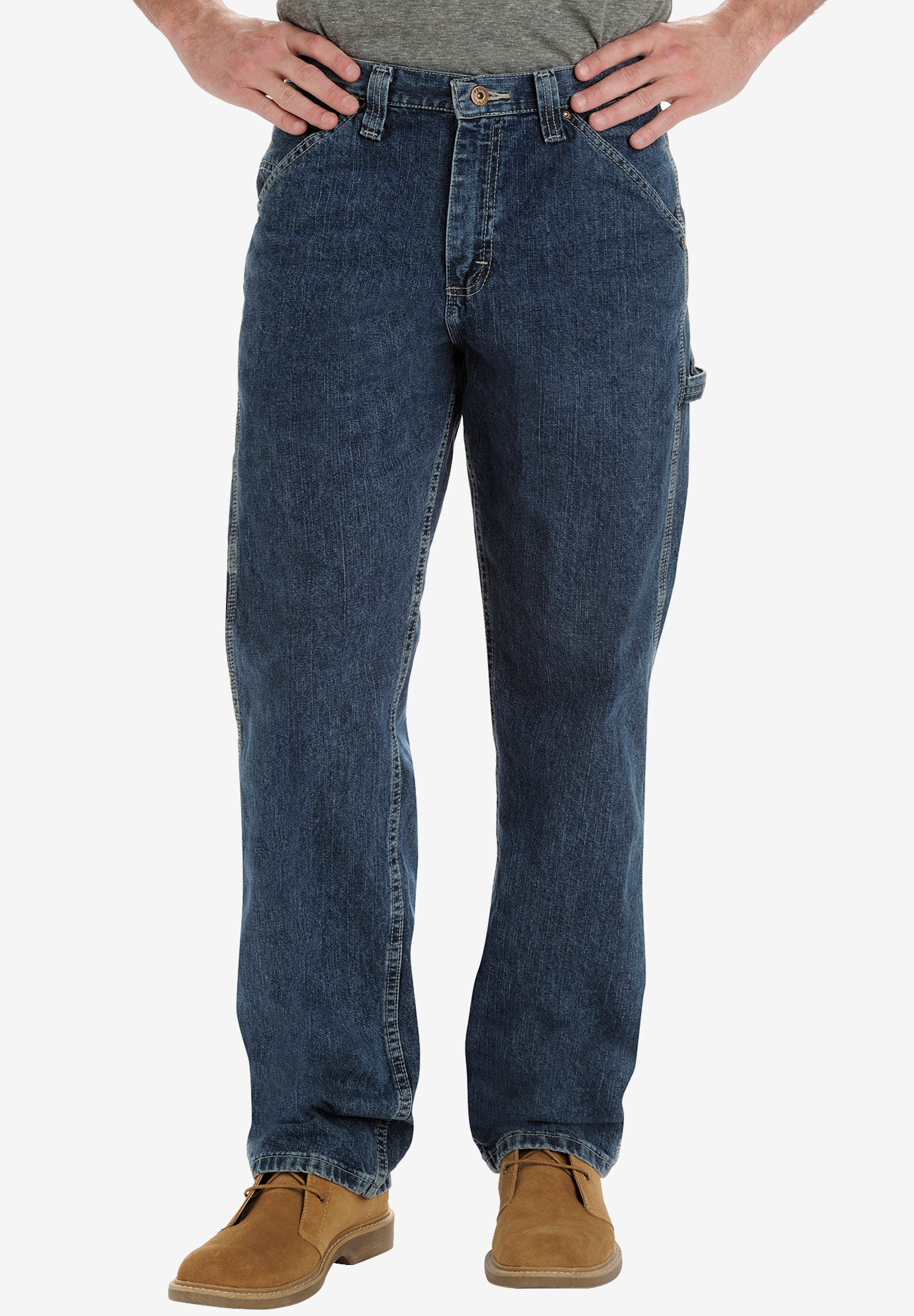 Lee Mens Big and Tall Big /& Tall Custom Fit Relaxed Straight Leg Jean