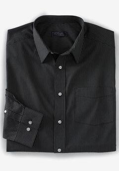 No Hassle® Long-Sleeve Dress Shirt by KS Signature®, BLACK STRIPE