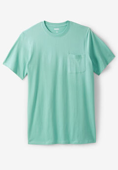 ec6a5a33825 Shrink-Less™ Lightweight Longer-Length Crewneck Pocket T-Shirt